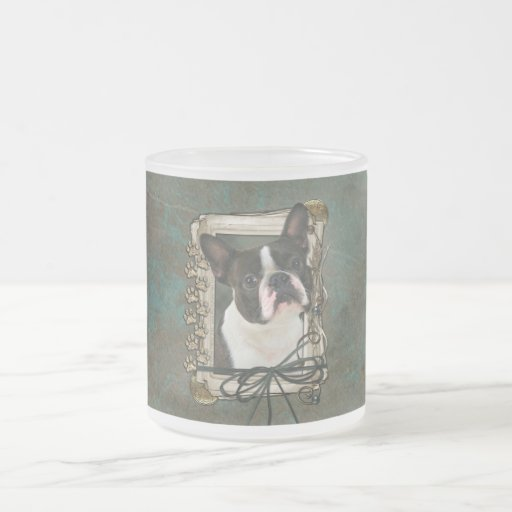 Fathers Day - Stone Paws - Boston Terrier Coffee Mugs