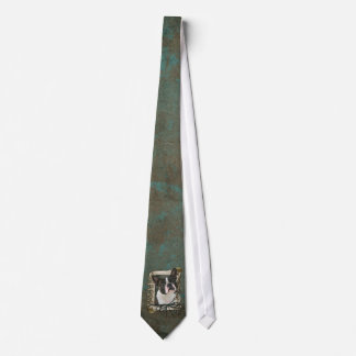 Fathers Day - Stone Paws - Boston Terrier Neck Tie
