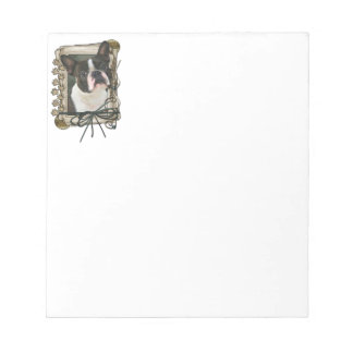 Fathers Day - Stone Paws - Boston Terrier Note Pad
