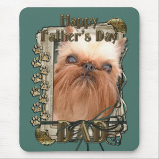 Fathers Day - Stone Paws - Brussels Griffon - Dad Mouse Pad