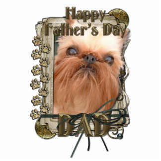 Fathers Day - Stone Paws - Brussels Griffon - Dad Statuette