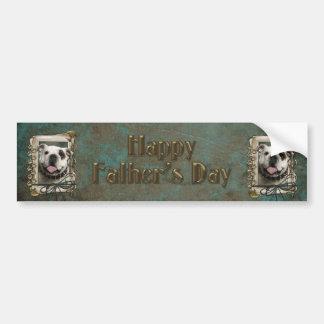 Fathers Day - Stone Paws - Bulldog Bumper Sticker
