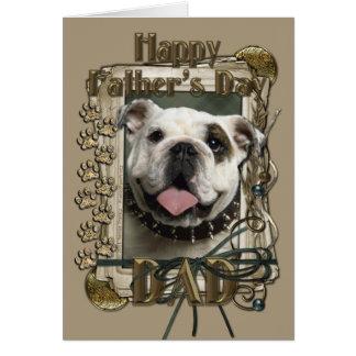 Fathers Day - Stone Paws - Bulldog Card