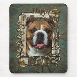 Fathers Day - Stone Paws - Bulldog - Dad Mouse Pad