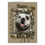 Fathers Day - Stone Paws - Bulldog Greeting Card