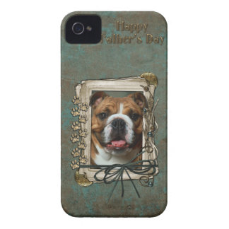 Fathers Day - Stone Paws - Bulldog iPhone 4 Cover