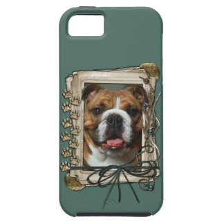 Fathers Day - Stone Paws - Bulldog iPhone SE/5/5s Case