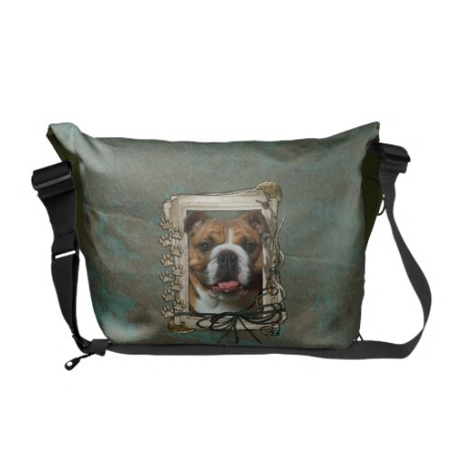 Fathers Day - Stone Paws - Bulldog Messenger Bag