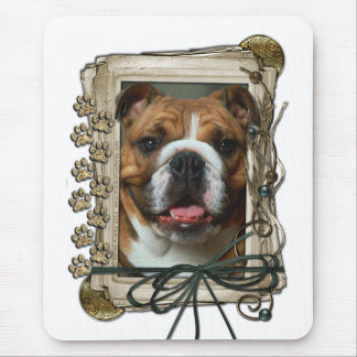 Fathers Day - Stone Paws - Bulldog Mouse Pad