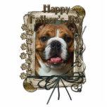 Fathers Day - Stone Paws - Bulldog Photo Cutouts