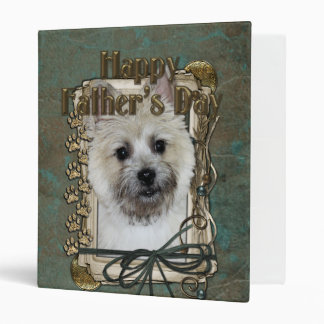 Fathers Day - Stone Paws - Cairn - Teddy Bear Vinyl Binder
