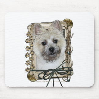 Fathers Day - Stone Paws - Cairn - Teddy Bear Mouse Pad
