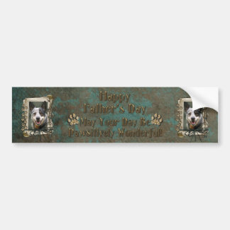 Fathers Day - Stone Paws - Cattle Dog Car Bumper Sticker