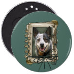 Fathers Day - Stone Paws - Cattle Dog 6 Inch Round Button