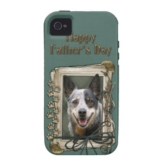 Fathers Day - Stone Paws - Cattle Dog iPhone 4 Cover