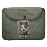 Fathers Day - Stone Paws - Cattle Dog Sleeves For MacBook Pro