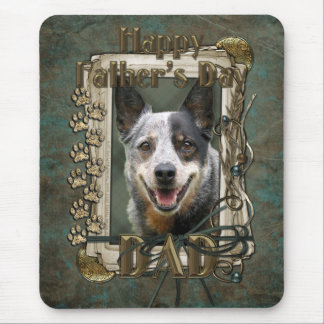 Fathers Day - Stone Paws - Cattle Dog Mouse Pad