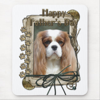 Fathers Day - Stone Paws - Cavalier - Blenheim Mouse Pad