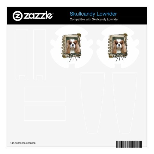 Fathers Day - Stone Paws - Cavalier - Blenheim Skullcandy Lowrider Decal