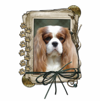 Fathers Day - Stone Paws - Cavalier - Blenheim Statuette