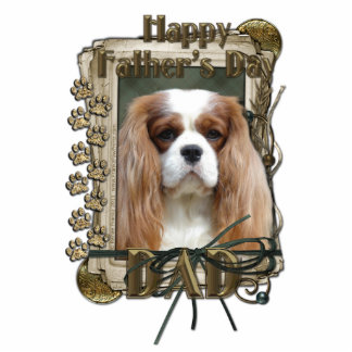 Fathers Day - Stone Paws - Cavalier - Dad Standing Photo Sculpture