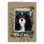 Fathers Day - Stone Paws - Cavalier Greeting Card