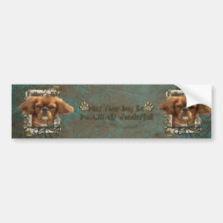 Fathers Day - Stone Paws - Cavalier King Charles Bumper Sticker