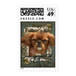 Fathers Day - Stone Paws - Cavalier King Charles Postage Stamp