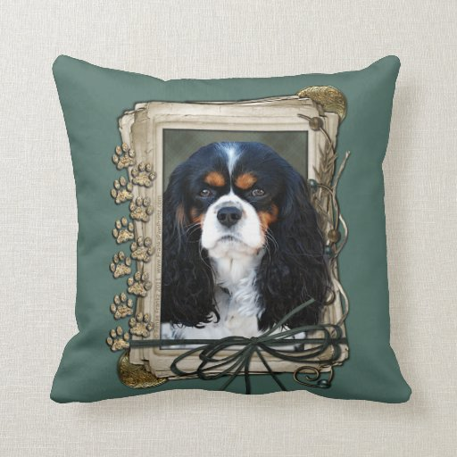 Fathers Day - Stone Paws - Cavalier King Charles S Pillows