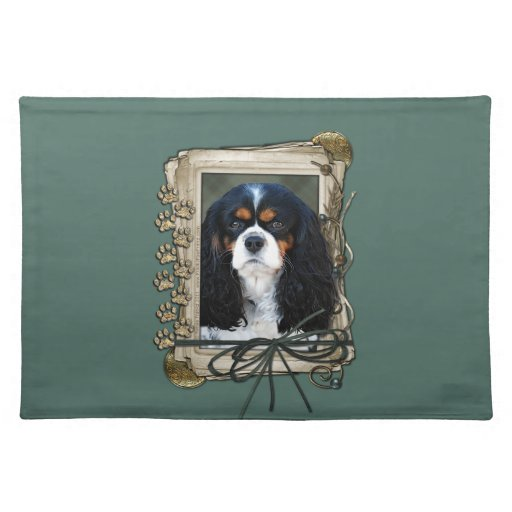 Fathers Day - Stone Paws - Cavalier King Charles S Place Mats