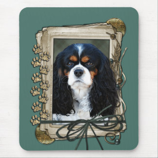 Fathers Day - Stone Paws - Cavalier Mouse Pad
