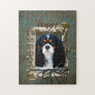 Fathers Day - Stone Paws - Cavalier - Tri Color Puzzle