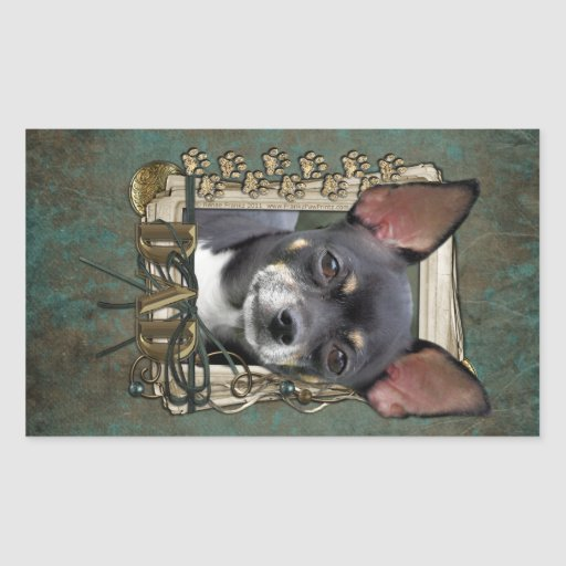 Fathers Day - Stone Paws - Chihuahua - Isabella Rectangular Sticker
