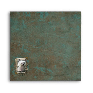 Fathers Day - Stone Paws - Chinese Crested Envelope