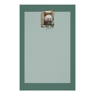 Fathers Day - Stone Paws - Chinese Crested - Jaspe Stationery Paper