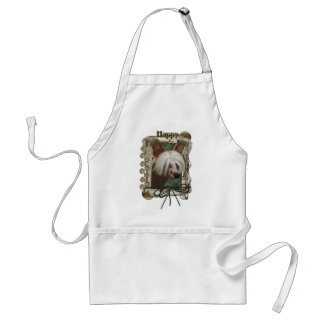 Fathers Day - Stone Paws - Chinese Crested -Jasper Adult Apron