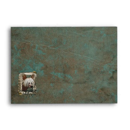 Fathers Day - Stone Paws - Chinese Crested Jasper Envelope