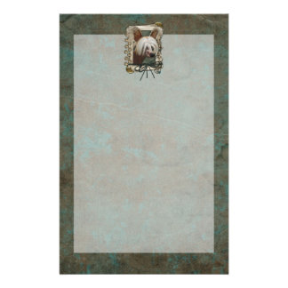 Fathers Day - Stone Paws - Chinese Crested Jasper Stationery Paper