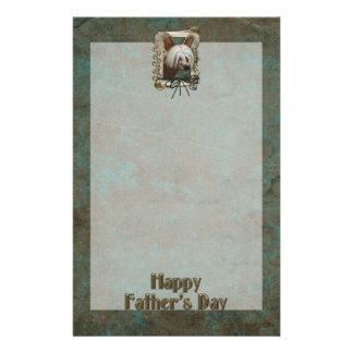Fathers Day - Stone Paws - Chinese Crested Jasper Personalized Stationery