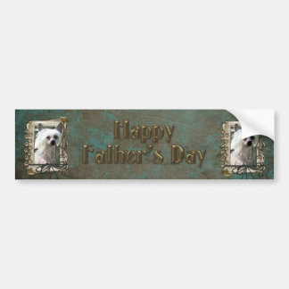 Fathers Day - Stone Paws - Chinese Crested - Kahlo Car Bumper Sticker