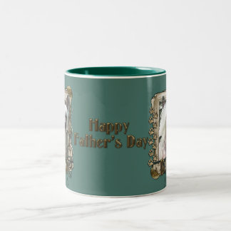 Fathers Day - Stone Paws Chinese Crested Kahlo Dad Two-Tone Coffee Mug