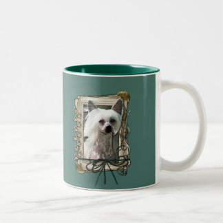 Fathers Day - Stone Paws - Chinese Crested - Kahlo Two-Tone Coffee Mug