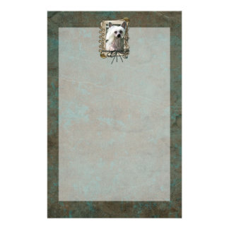 Fathers Day - Stone Paws - Chinese Crested Stationery
