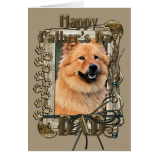 Fathers Day - Stone Paws - Chow Chow - Cinny Greeting Card