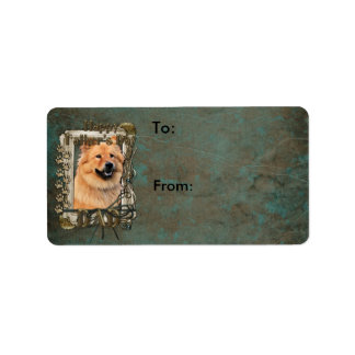Fathers Day - Stone Paws - Chow Chow - Cinny - Dad Label