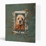 Fathers Day - Stone Paws - Cocker Spaniel Vinyl Binder