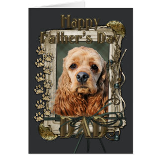Fathers Day - Stone Paws - Cocker Spaniel Card