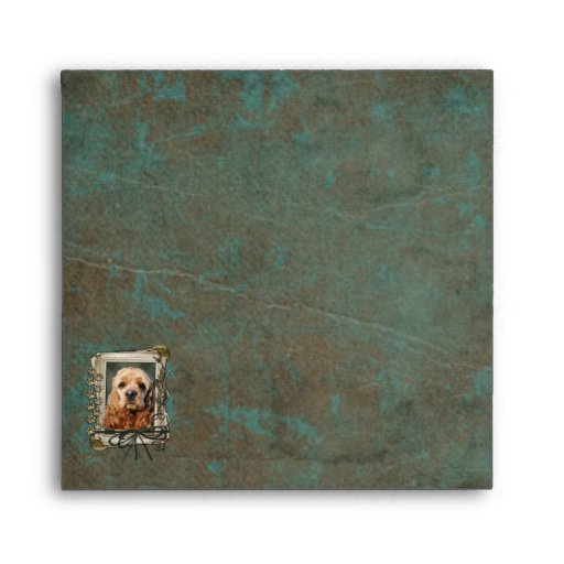 Fathers Day - Stone Paws - Cocker Spaniel Envelopes