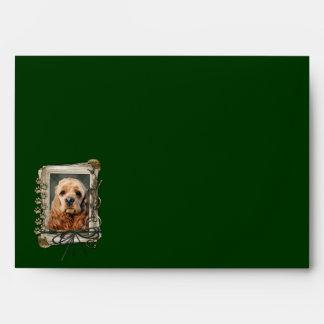 Fathers Day - Stone Paws - Cocker Spaniel Envelope