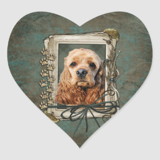Fathers Day - Stone Paws - Cocker Spaniel Heart Sticker